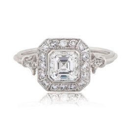 Vintage Asscher Cut Engagement Ring