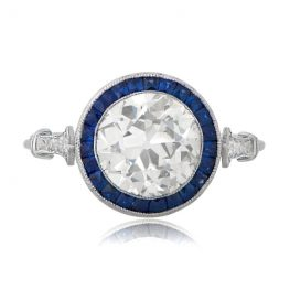 Vintage-Engagement-Rings-with-Sapphire-Halo-11019-T-View