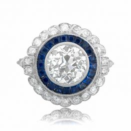 Floral Diamond & Sapphire Ring