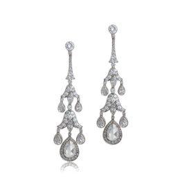 Edwardian Style Rose Cut Earrings
