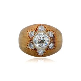 Vintage Gold Buccellati Engagement ring with diamonds