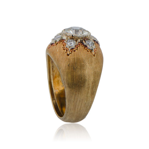 Vintage-Buccellati-Diamond-Engagement-Ring-11144-Top-Side-View
