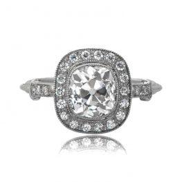 Vintage Cushion Engagement Ring