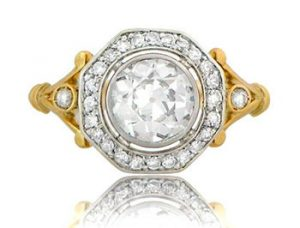ornate edwardian engagement ring