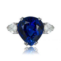 Antique Pear Cut Sapphire Ring