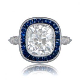 11234-Antique-Cushion-Cut-Halo-Diamond-Ring-TV