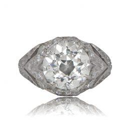 3.22ct Platinum Engagement Ring