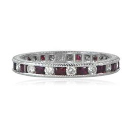 Diamond Ruby Wedding Band