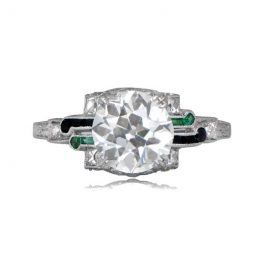 Important Deco Engagement Ring