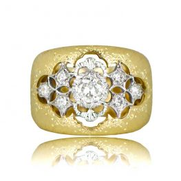 Ornate Buccellati Engagement Ring