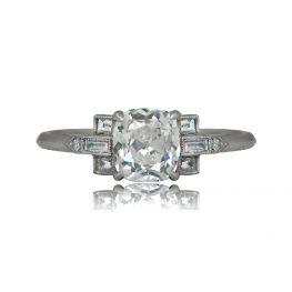 Old mine cushion engagement ring