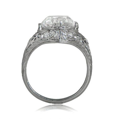 Four carat vintage engagement ring