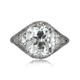 4ct vintage engagement ring