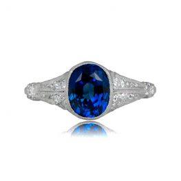 Estate Sapphire Platinum Ring