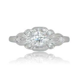 Vintage Ring Platinum RJ Front